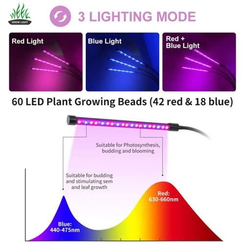 LED grow light 9w 18w 27w