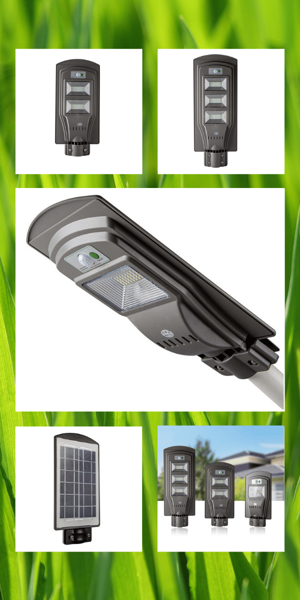 all-in-one integrated motion sensor solar led street light 20w-60w
